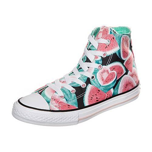 CONVERSE Chuck Taylor All Star Watermelon Print Sneaker Kinder korall / grün / weiß