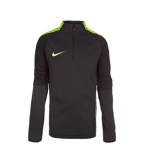 Nike Shield Strike Drill Funktionssweatshirt Kinder schwarz / grün
