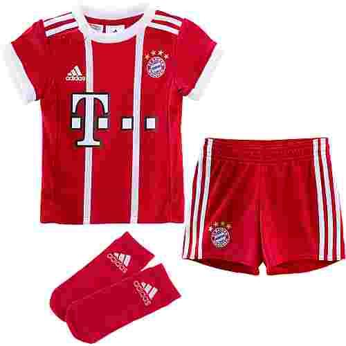 adidas FC Bayern 17/18 Heim Fußballtrikot Kinder FCB TRUE RED