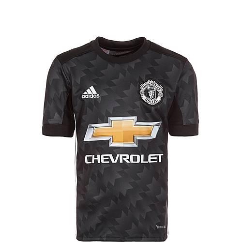 adidas Manchester United 17/18 Auswärts Fußballtrikot Kinder schwarz / weiß