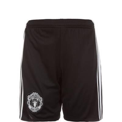 adidas Manchester United 17/18 Auswärts Fußballshorts Kinder schwarz / weiß