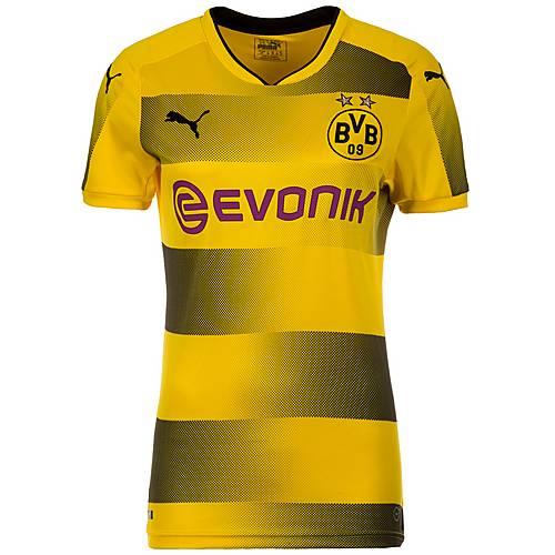 PUMA Borussia Dortmund 17/18 Heim Fußballtrikot Damen gelb / schwarz