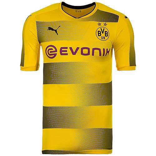 PUMA Borussia Dortmund Authentic 17/18 Heim Fußballtrikot Herren gelb / schwarz