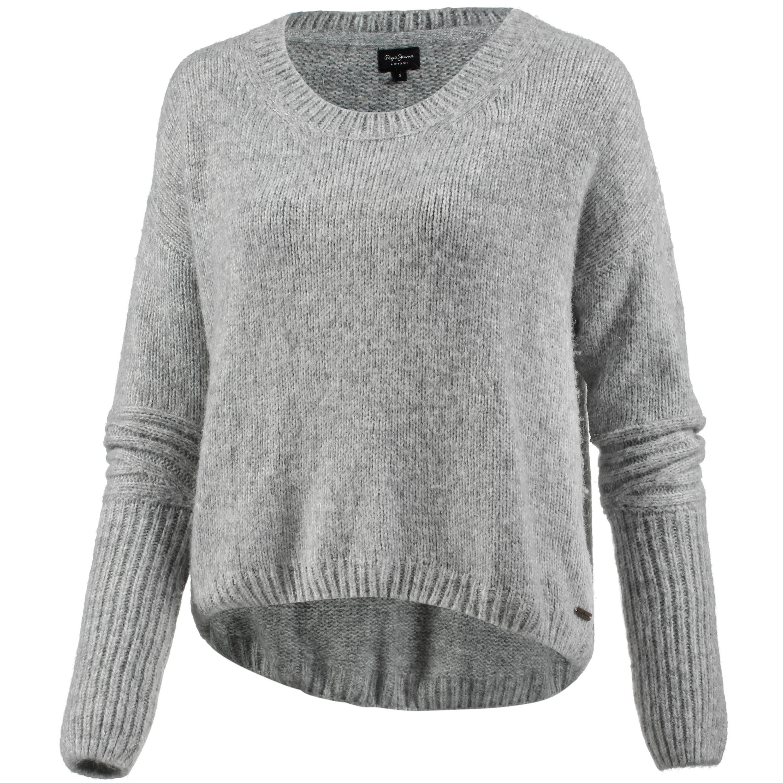 pepe jeans strickpullover damen grey marl g nstig. Black Bedroom Furniture Sets. Home Design Ideas