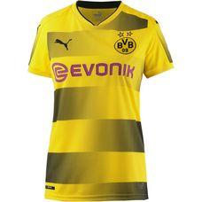 PUMA Borussia Dortmund 17/18 Heim Fußballtrikot Damen Cyber yellow-black