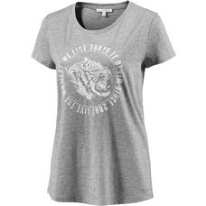 TOM TAILOR T-Shirt Damen light silver grey