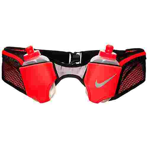 Nike Double Trinkflaschengürtel Trinksystem neonrot / schwarz