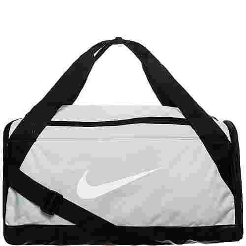 Nike Brasilia Duffel Small Sporttasche grau / schwarz