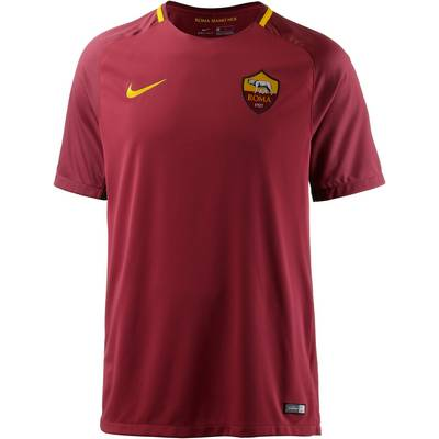 Nike AS Rom 17/18 Heim Fußballtrikot Herren rot/gold