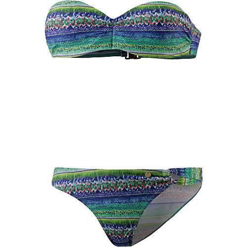Maui Wowie Bandeau Bikini Damen grün/bunt