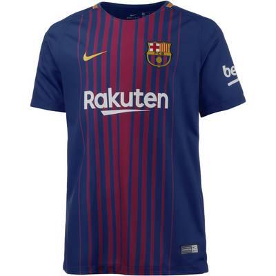 Nike FC Barcelona 17/18 Heim Fußballtrikot Kinder blau/gold