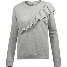 Herrlicher Estelle Sweat Sweatshirt Damen grey melange