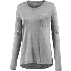 Bench Langarmshirt Damen winter grey marl
