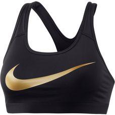 Nike Pro Classic Sport-BH Damen black-black-metallic gold