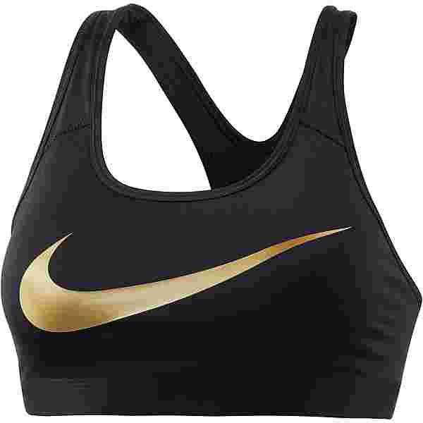 Nike Pro Classic BH Damen black-black-metallic gold