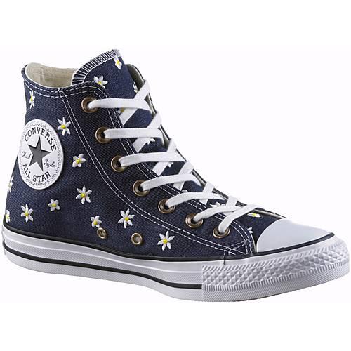 CONVERSE Chuck Taylor All Star Hi Sneaker Damen dunkelblau/gelb