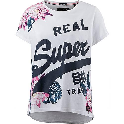 Superdry T-Shirt Damen weiß/bunt