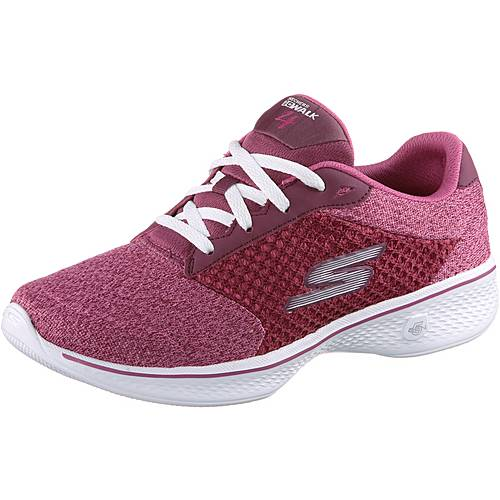 Skechers GO WALK 4 EXCEED Fitnessschuhe Damen Raspberry Textile/Trim