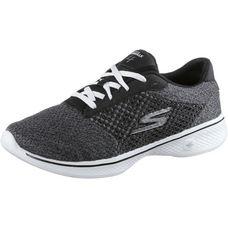 Skechers GO WALK 4 EXCEED Fitnessschuhe Damen Black Textile/ White Trim