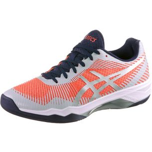 ASICS VOLLEY ELITE FF Hallenschuhe Damen flash coral-glacier grey-indig