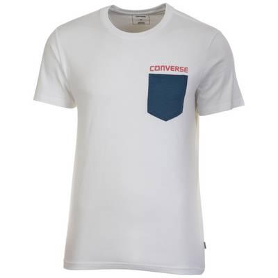 CONVERSE Americana Mesh Pocket T-Shirt Herren weiß / blau / rot