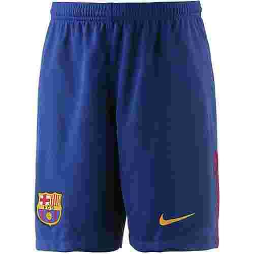 Nike FC Barcelona 17/18 Heim Fußballshorts Kinder blau/gold