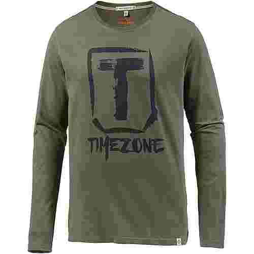 TIMEZONE Langarmshirt Herren dusty olive