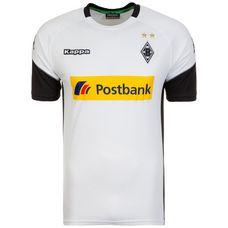 KAPPA Borussia Mönchengladbach 17/18 Heim Fußballtrikot Herren weiß / schwarz