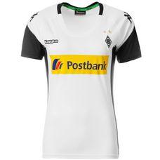 KAPPA Borussia Mönchengladbach 17/18 Heim Fußballtrikot Damen weiß / schwarz