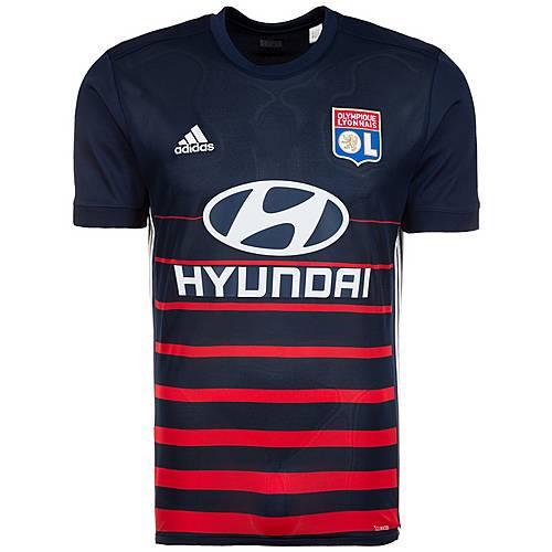 adidas Olympique Lyon 17/18 Auswärts Fußballtrikot Herren dunkelblau / rot