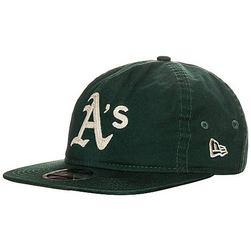 New Era 9FIFTY Chain Stitch Oakland Athletics Cap dunkelgrün / creme
