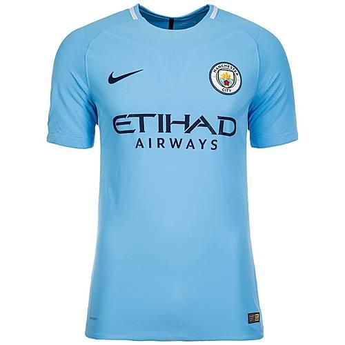 Nike Manchester City Vapor Match 17/18 Heim Fußballtrikot Herren hellblau / dunkelblau
