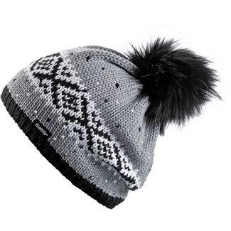 Eisbär Noma Bommelmütze Damen grau-schwarz