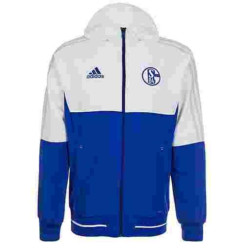 adidas FC Schalke 04 Trainingsjacke Herren blau / weiß / grau