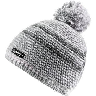 Eisbär Mütze Kunita Pompon Bommelmütze weiß-grau