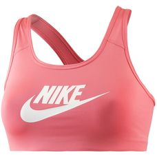 Nike Pro Classic Swoosh Futura Sport-BH Damen SUNBLUSH/WHITE