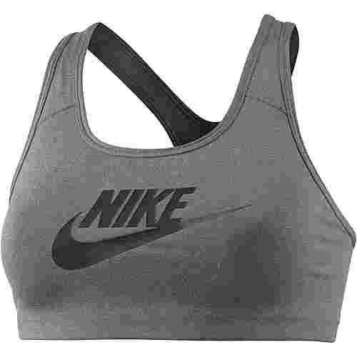 Nike Pro Classic Swoosh Futura Sport-BH Damen carbon heather-black