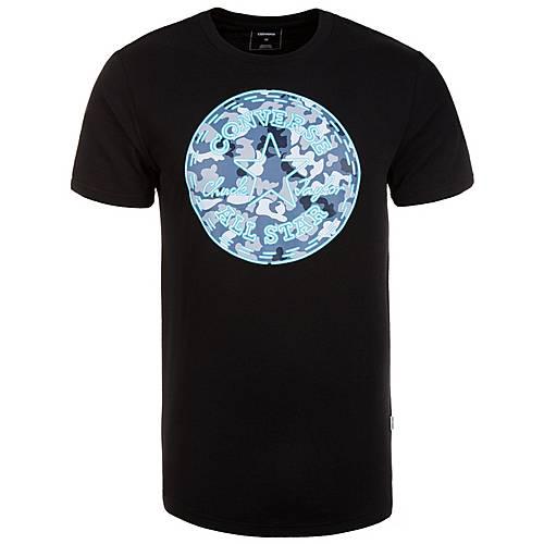 CONVERSE Neon Chuck Patch Camo Fill Printshirt Herren schwarz / blau