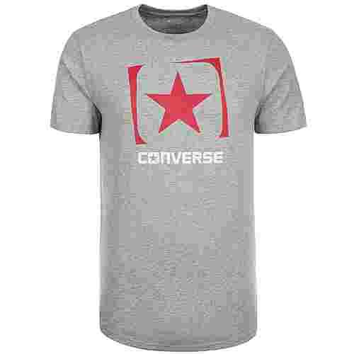 CONVERSE Mesh Box Star Fill Printshirt Herren grau / rot