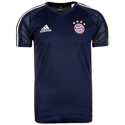 adidas FC Bayern München Fanshirt Herren dunkelblau / weiß