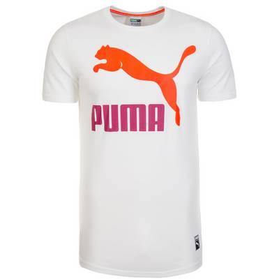 PUMA Archive Logo T-Shirt Herren weiß / orange