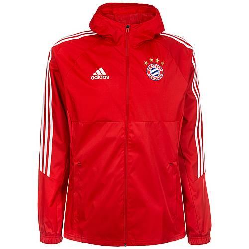 adidas FC Bayern München Regenjacke Herren rot / weiß