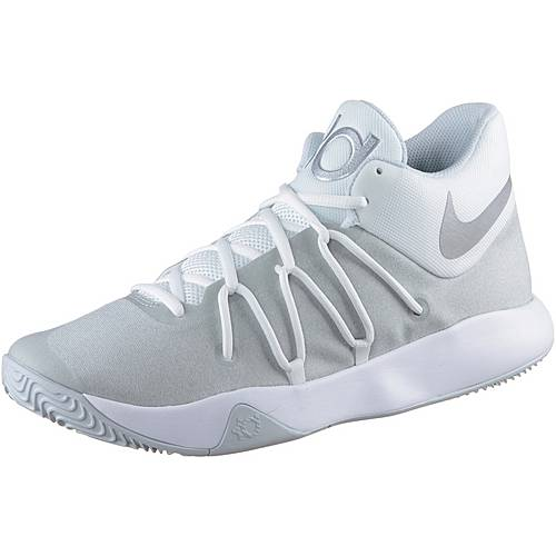 Nike KD TREY 5 V Basketballschuhe Herren WHITE/CHROME-PURE PLATINUM