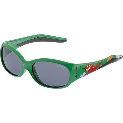ALPINA FLEXXY KIDS Sonnenbrille Kinder green plane