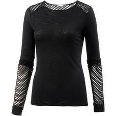 Mandala Langarmshirt Damen black