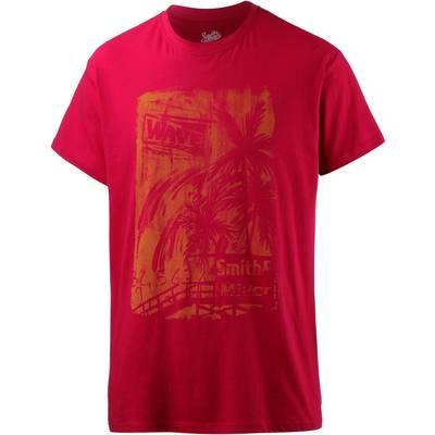 Smith and Miller sunnset Printshirt Herren red