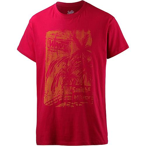 Smith and Miller sunnset Printshirt Herren red