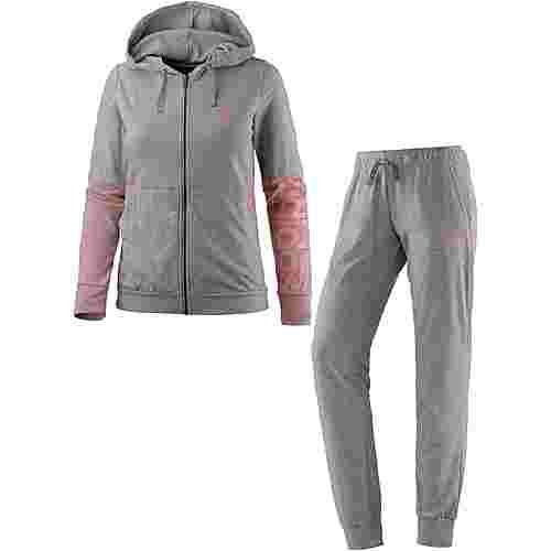 adidas Marker Trainingsanzug Damen medium grey heather
