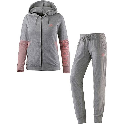 adidas Marker Trainingsanzug Damen medium grey heather
