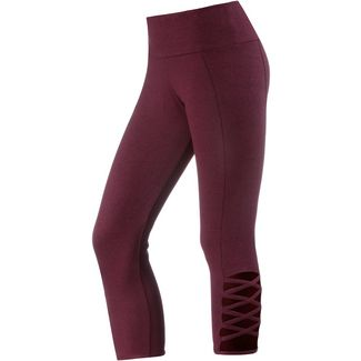 Onzie Weave Tights Damen burgundy